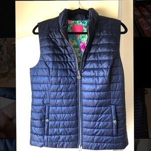 NWOT Lilly Pulitzer Elyn navy blue puffer vest